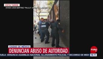 Foto: Denuncian abuso de autoridad afuera de albergue migrante