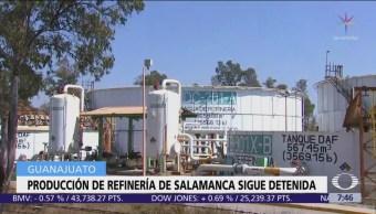 Denuncian producción parada por fallas en refinería de Salamanca