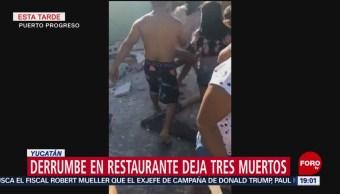 FOTO: Derrumbe en restaurante deja tres muertos en Yucatán, 17 febrero 2019