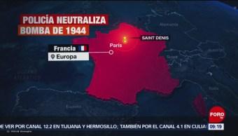 FOTO: Desalojan localidad francesa para desactivar bomba de la Segunda Guerra Mundial, 17 febrero 2019
