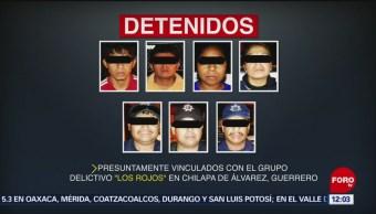 Detienen a 9 integrantes de Los Rojos en Chilapa de Álvarez, Guerrero
