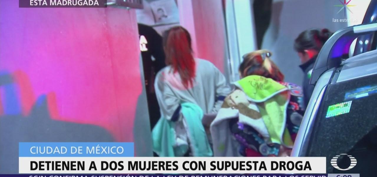 Detienen a dos mujeres con droga a bordo de autobús