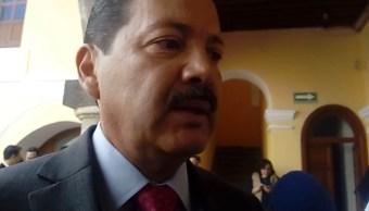 Foto: El alcalde de San Pedro Cholula, Luis Alberto Arriaga, confirma un balazo en el cuello al director de Vialidad, febrero 10 de 2019 (Twitter: @ArrobaNoticias)