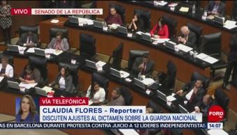 Foto: Discuten en el Senado ajustes al dictamen sobre la Guardia Nacional