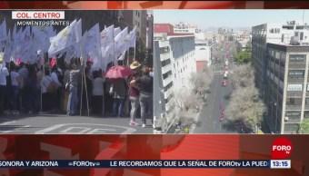 Foto: Diversas organizaciones sociales se manifiestan en el Zócalo
