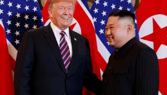 Foto: Donald Trump, presidente de Estados Unidos, y Kim Jong-Un, el líder norcoreano en Hanói, Vietnam, el 23 de junio de 2019.