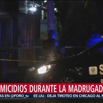 Dos homicidios durante la madrugada en CDMX