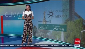 Foto: El Clima 'A las Tres' con Daniela Álvarez del 21 de febrero de 2019