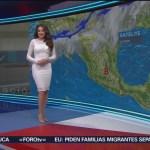 Foto: El clima con Mayte Carranco del 11 de febrero de 2019