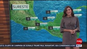FOTO: El clima de Sábados de foro con Daniela Álvarez, 16 febrero 2019