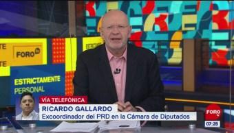 El PRD ya perdió su esencia, dice Ricardo Gallardo