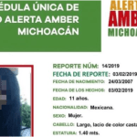 FOTO Encuentran muerta a niña desaparecida en Michoacán 3 febrero 2019