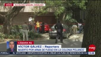 Foto: Escolta mata a asaltante en la colonia Polanco