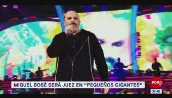 """#EspectáculosenExpreso: Miguel Bosé será juez en """"Pequeños Gigantes"""""""
