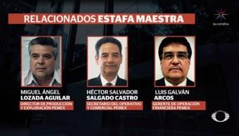 cesan tres directivos de Pemex por presunta participación en estafa maestra