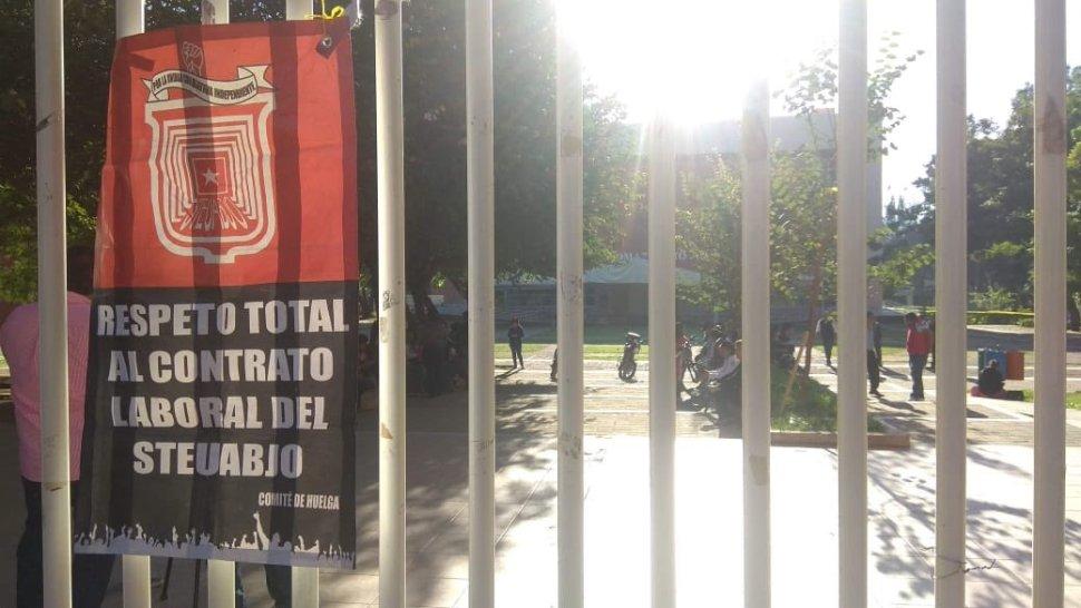 Foto: Estalla la huelga en la UABJO 1 febrero 2019