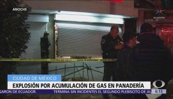 Explosión por acumulación de gas en panadería, CDMX