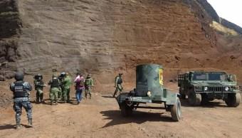 Foto: Es destruido con todas las medidas de seguridad por personal militar en campo abierto, 1 febrero 2019