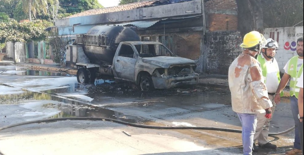 Foto: Explota pipa de gas LP en Chiapas, 8 de febrero 2019. (Juan Álvarez Moreno)