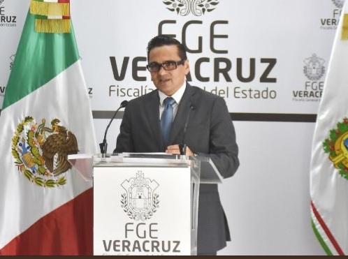 Foto: Jorge Winckler, fiscal de Veracruz, 5 de febrero 2019. Twitter @FGE_Veracruz,
