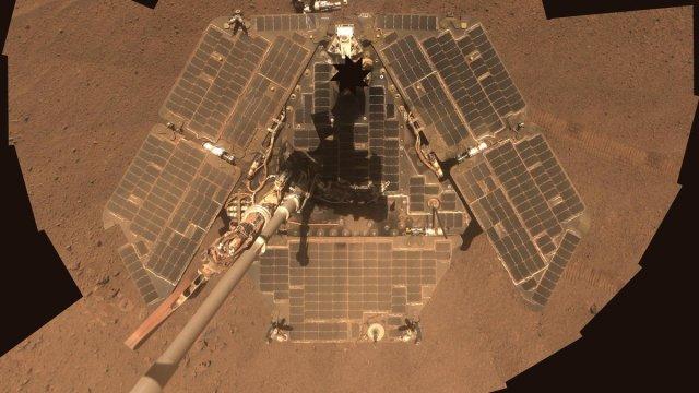Foto: Imagen del robot Opportunity en el planeta Marte del 11 de octubre de 2018