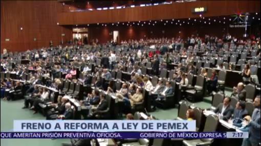 Frenan reforma a Ley de Petróleos Mexicanos tras rechazo de AMLO