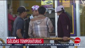 Frente frío 35 mantiene bajas temperaturas en Sonora