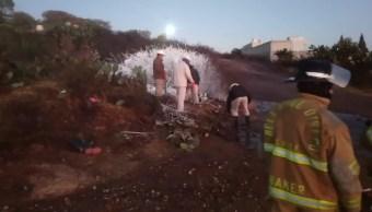 Foto: Protección Civil de Hidalgo controlan fuga de combustible, febrero 10 de 2019 (Noticieros Televisa)