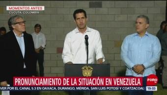 FOTO: Guaidó repudia incendio a camiones con ayuda humanitaria, 23 febrero 2019