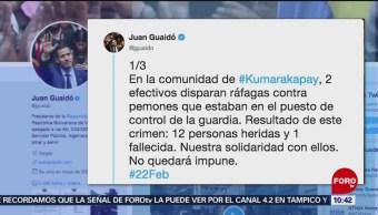 Guardias venezolanos disparan contra comunidad indígena