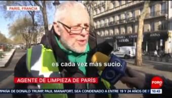 FOTO: Guerra contra colillas de cigarro en calles de Paris, 17 febrero 2019