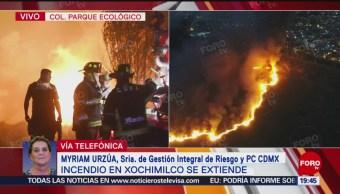Foto: Incendio Xochimilco Extiende Iztapalapa Pastizales 20 de Febrero 2019