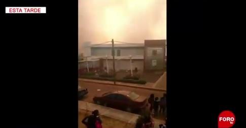 Foto: incendio en inmediaciones de la Universidad Autónoma de Tlaxcala, 20 de febrero 2019. FOROtv