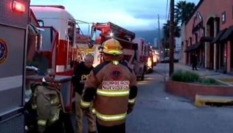 Foto: Bomberos atienden incendio en restaurante Monterrey, 8 febrero 2019