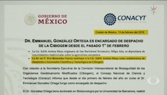 FOTO:Inconformidad en comunidad científica por nombramientos en Conacyt, 13 FEBRERO 2019