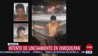 Intento de linchamiento en Hidalgo