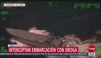 Foto: Interceptan Lancha Transportaba Droga Sinaloa 20 de Febrero 2019