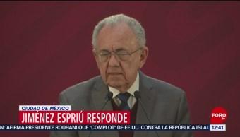 Jiménez Espriú responde a denuncia de omisión en declaración patrimonial