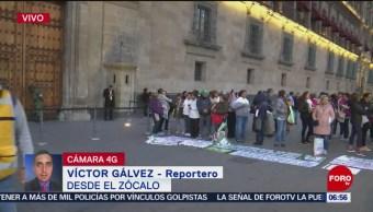 Jubilados del IMSS protestan frente a Palacio Nacional en CDMX