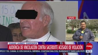 Foto: Juez de Chihuahua desahoga audiencia contra párroco acusado de violación