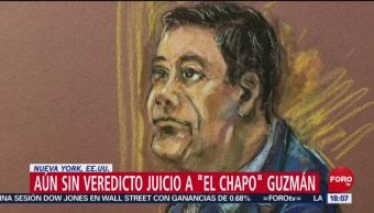 Foto: Juicio de 'El Chapo': Sin veredicto, segundo día de liberaciones