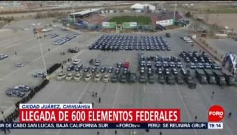 Foto: Elementos Federales Ciudad Juárez Chihuahua 13 de Febrero 2019