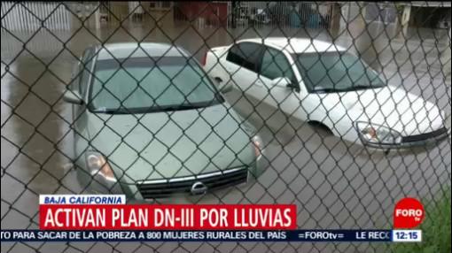 Lluvias dejan inundaciones y deslaves en Tijuana; activan el Plan DN-III