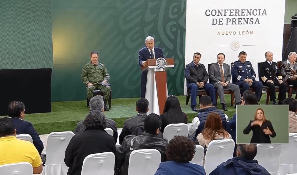 Foto; López obrador Monterrey, Nuevo León, 20 de febrero de 2019, México