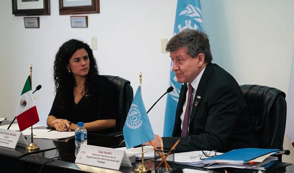 Luisa Alcalde, Secretaría Del Trabajo, Guy Ryder, OIT, Fuerza laboral, Twitter, @LuisaAlcalde, 22 febrero 2019