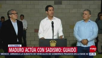 FOTO: Maduro actúa con sadismo: Guaidó, 23 febrero 2019