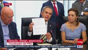 Mancera dice que triunfó moción sobre impulso para Guardia Nacional