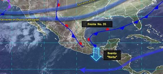 Foto: La masa de aire polar asociada al frente frío 35 mantendrá bajas temperaturas en México, 9 febrero 2019