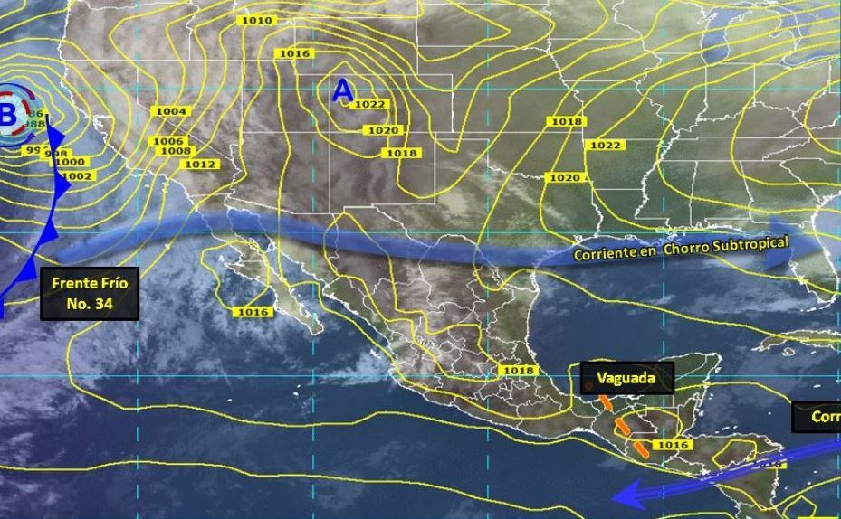 Imagen de fenómenos meteorológicos en México, 2 febrero 2019