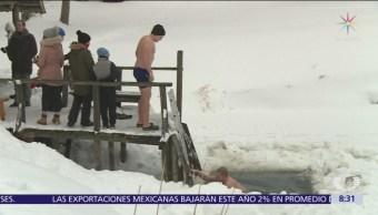 Maratón de sauna a dos grados bajo cero